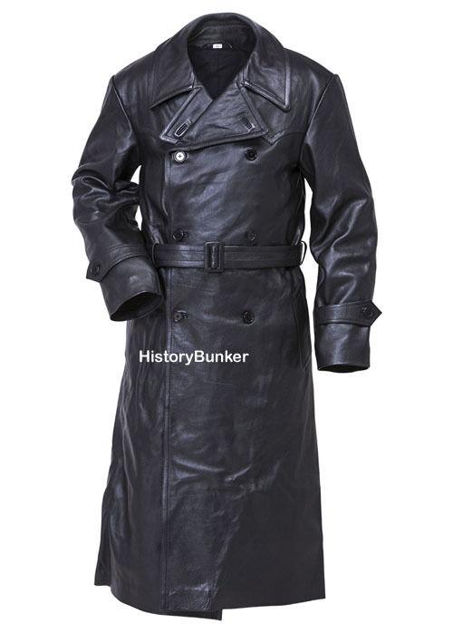 WW2 German leder trench coat - groß 44 CHEST