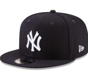 NEW ERA 9Fifty MLB New York Yankees Basic Black Snapback Cap Adult Men Hat   9fc0811dab3