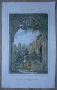 1853 print BELLAPAIS ABBEY, NEAR KYRENIA, CYPRUS (#27)