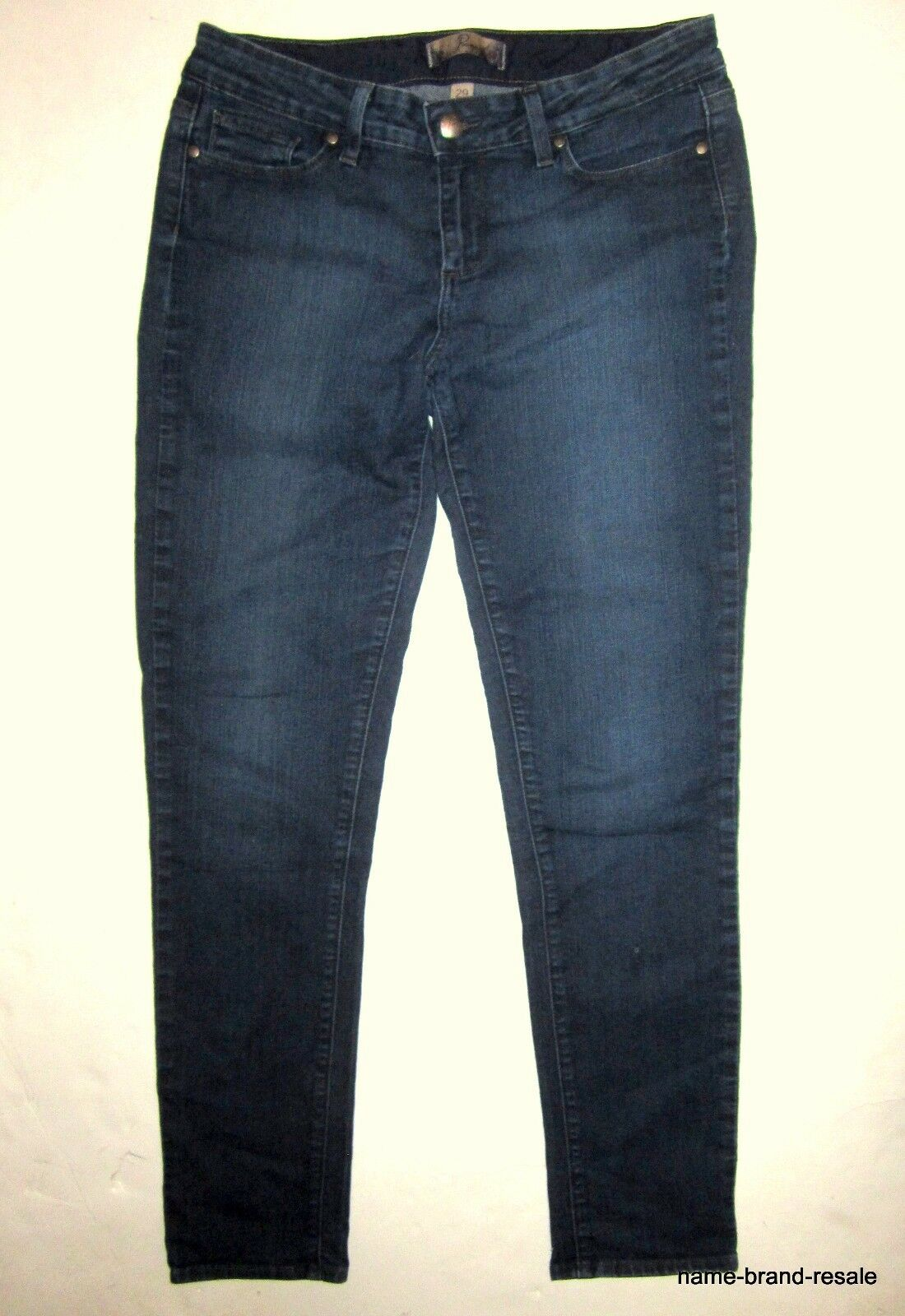 PAIGE PREMIUM DENIM Peg Skinny Leg JEANS Womens 29 Dark Wash Slim Leg Ankle