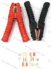 Pair 10 Copper Plated Insulated Car Battery Alligator Clamp 1000a Red Black