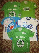 Lot Maillot cycliste TOUR de FRANCE FDJ VERT PMU Skoda shirt BOUYGUES TELECOM L