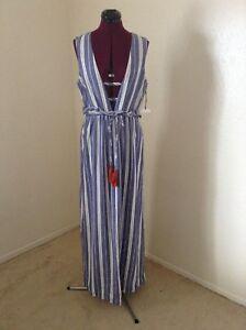 010f6363609 Image is loading NEW-TULAROSA-039-Essie-039-Striped-Maxi-Dress-