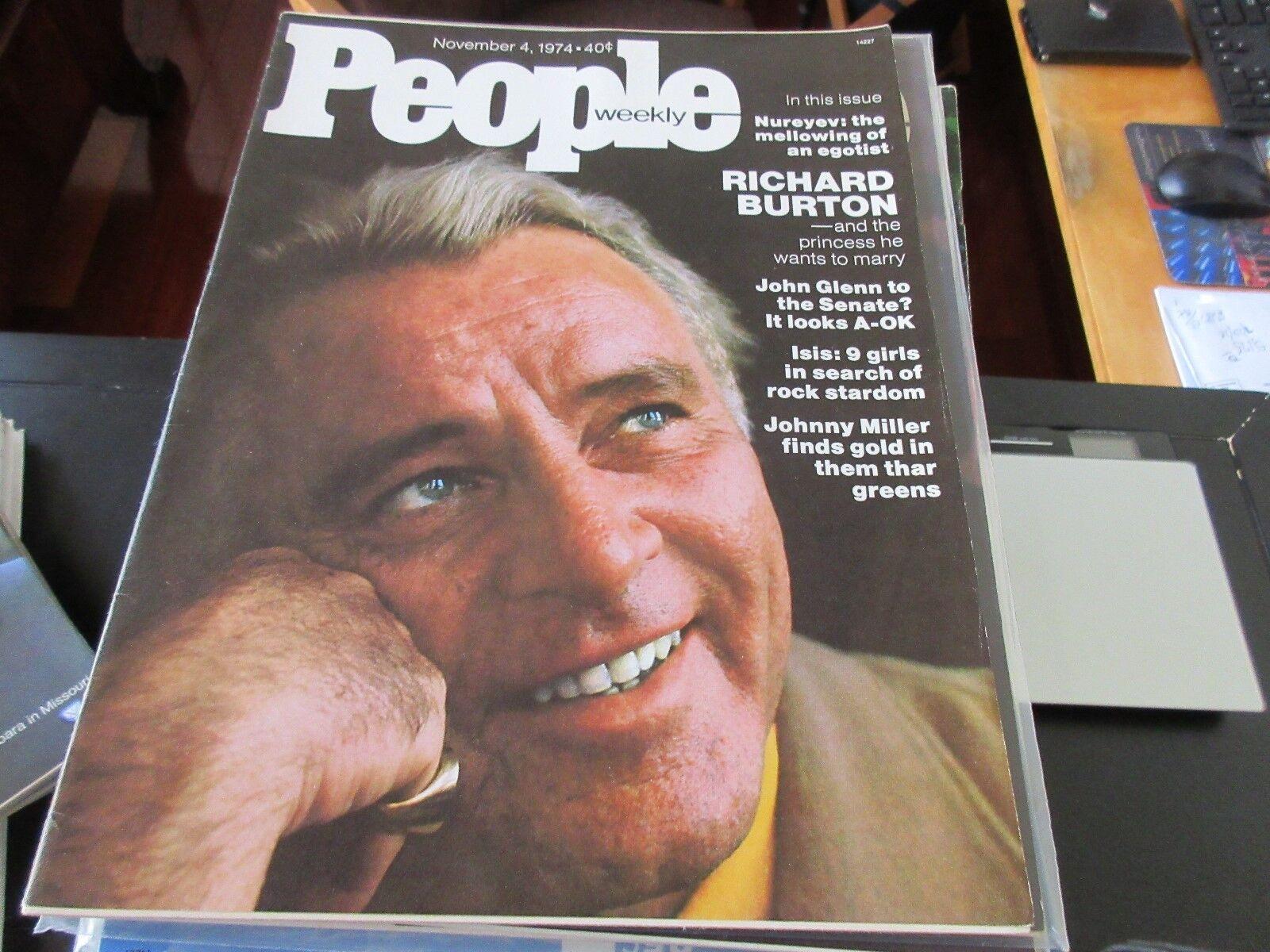People Magazine , Richard Burton , 11/4/74 , Nureyev ,