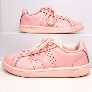 Details about Adidas Womens Size 7 Pink Cloudfoam Advantage Trainers AW3977