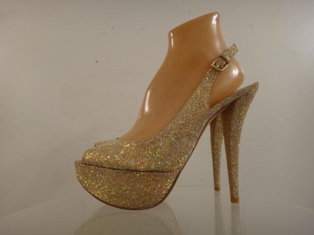 Stuart Weitzman 'Vevey' 'Vevey' 'Vevey' Gold Glitter Platform Slingback Pumps schuhe Größe 9.5 M 93fe9f