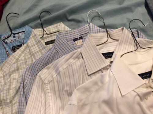 Lot f 5 Dress Shirt Lot - Canali, Zegna, 7 Diamond