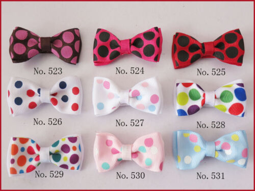 """500 BLESSING Good Girl Boutique 2/"""" Double Bowknot Hair Bow Clip Accessories"""
