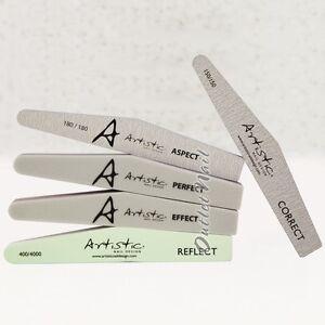 LOT 5 - ARTISTIC NAIL FILES, GRIT BUFFER, SHINE, GEL BRUSH Design ...