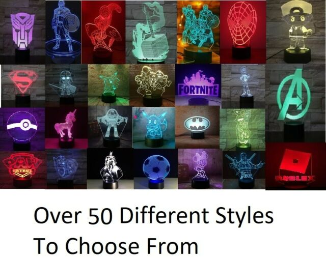 USB 3D LED Lamps for sale | eBay