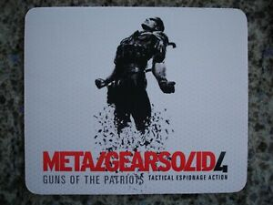 Metal Gear Solid 4 Snake Mousepad NEW/OVP