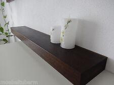 Wandboard Eiche geräuchert Massiv Holz Board Regal Steckboard Regalbrett NEU