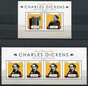 Nevis 2012 Charles Dickens Littérature écrivain Tamponné Neuf Sans Charnière