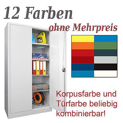 STAHLSCHRANK WERKZEUGSCHRANK 195x100x500 - 12 FARBEN MADE IN GERMANY NEU!