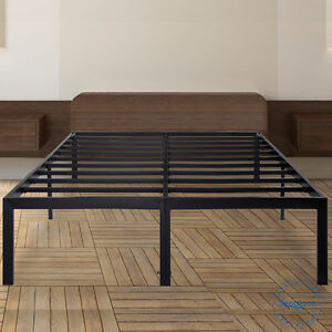Sleeplace 18 Quot Tall Metal Slat Platform Foundation Bed