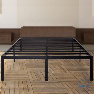 sleeplace 18 tall metal slat platform foundation bed. Black Bedroom Furniture Sets. Home Design Ideas