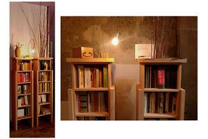 Mobili piccola libreria design in legno di faggio artigianale