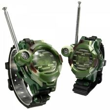 One Pair of Watch Style  Walkie Talkie with Seven Functions Camouflage Color
