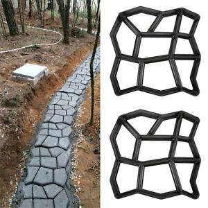 2er Unregelmäßig DIY Pflasterform Gießformen Form Betonpflaster Schablone Gehweg