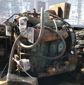 Details about Detroit Diesel 4-71 , 155 HP Industrial Diesel Engine , 471  with Transmission