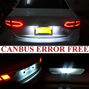 2x Audi A2 8Z0 Bright Xenon White LED Number Plate Upgrade Light Bulbs
