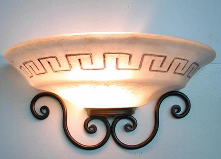 Plafoniera a mezza coppa atena lanterna applique lampione lampade