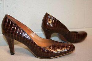 9 3 Tacón De Reptil Zapato N Vintage 60s 5 Impresión Alto Spike n8v0mNwO