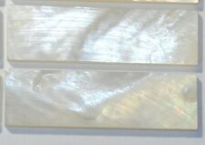 5 Blocks 40mm x 16mm x 1.5mm Inlay Material White Mother of Pearl Shell Blanks