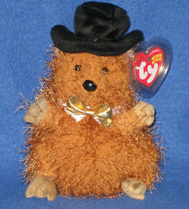 c12901509a6 TY PUNXSUTAWN-E PHIL 2005 the GROUNDHOG BEANIE BABY - MINT with MINT ...