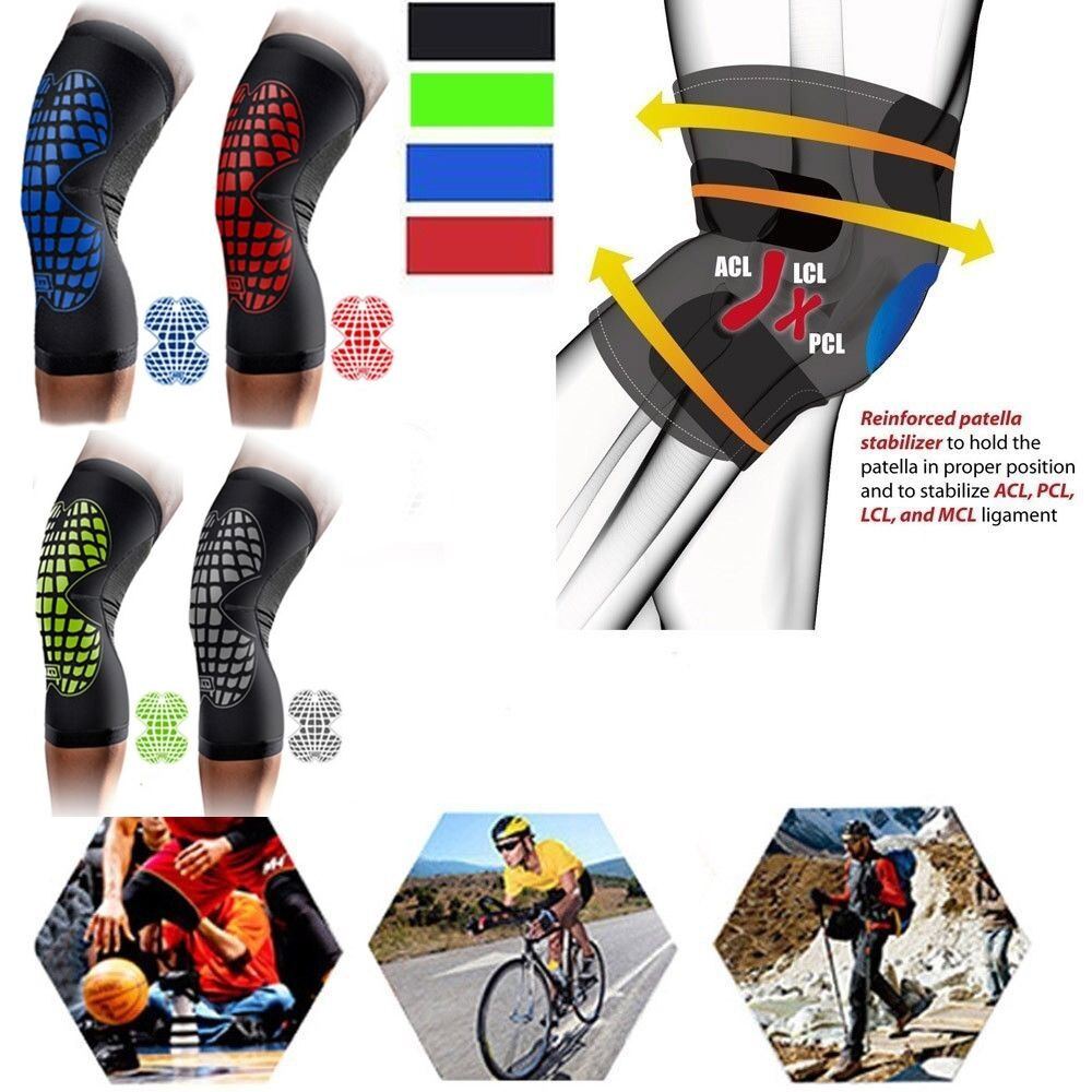 Knee Sleeve Knee Brace Pain Relief Support Workouts Sport Injury Prevention US G 1