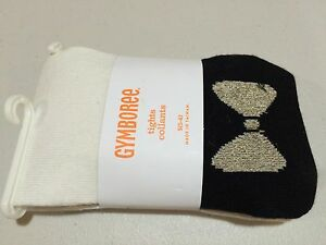 NWT Gymboree girls tights Black with pink Bow Footless 5//6