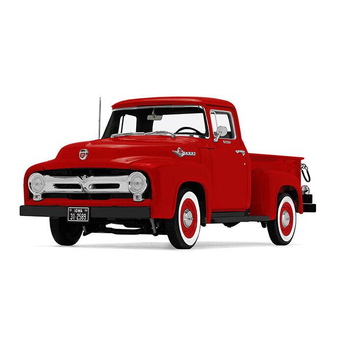 1 25 First Gear VERMILLION RED 1956 Ford F-100 Pickup Truck NIB