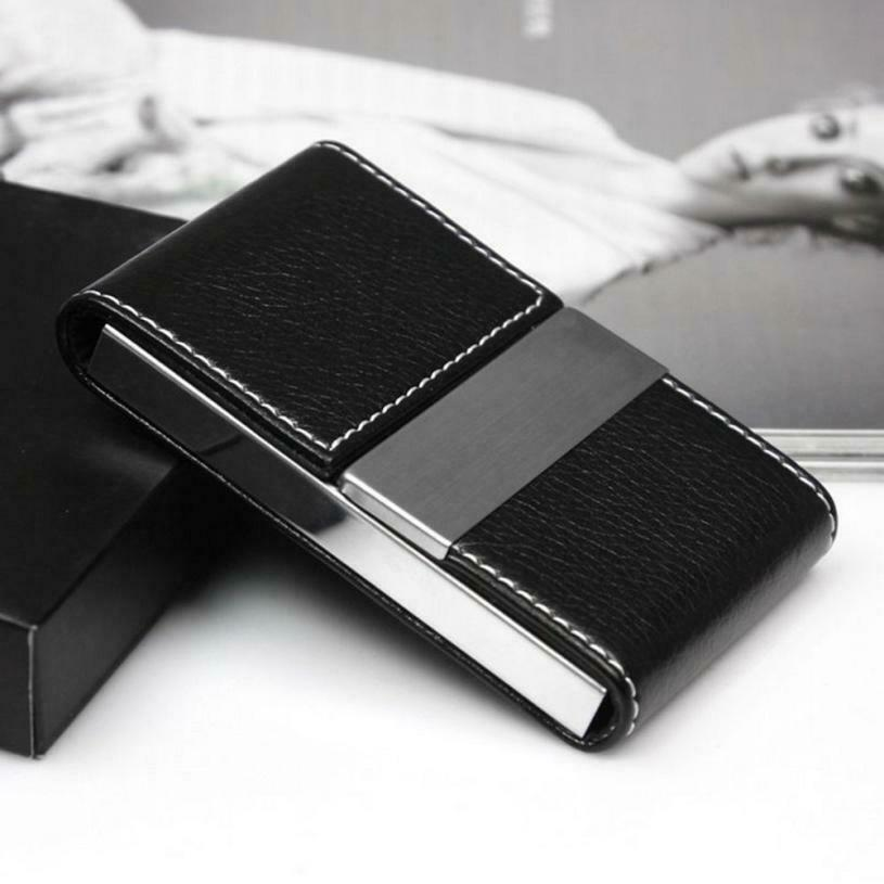 Porte-cartes d'identité et porte-documents à double ouverture Wallet Card Case