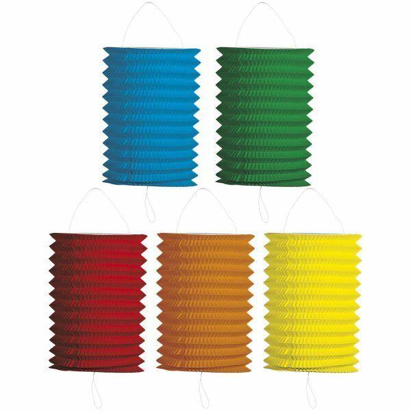 Party Lantern Round - Decoration/Lighting Birthday or Garden - Assorted - 16 cm