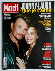 paris match n 2822 2003 johnny hallyday laura guy lux ebay. Black Bedroom Furniture Sets. Home Design Ideas