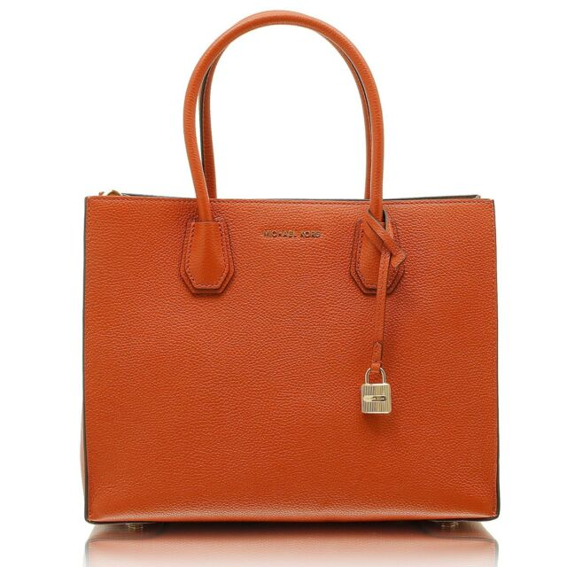 4240be699 Michael Kors Mercer Large Leather Tote Orange NWD 30f6gm9t3l for ...