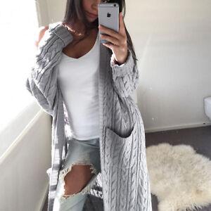 Women-039-s-Knitted-Sweater-Long-Sleeve-Cardigan-Knitwear-Jumper-Outwear-Coat-Jacket