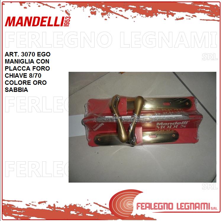 Mandelli Griff mit Plakette Loch Schlüssel Col. Gold Sab. 8 70 Serie Ego