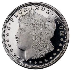 Highland Mint Morgan Dollar Design 1 2 Oz Silver Round
