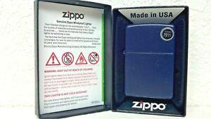 ZIPPO-LIGHTER-REGULAR-NAVY-BLUE-MATTE-FINISH-MODEL-239