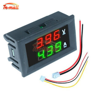 Digital DC 100V 10A Voltmeter Ammeter Green+Green Dual LED Volt Amp Meter Gauge