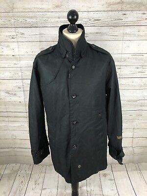 G STAR RAW nouvelle Garber trench coat XL Noir Très bon état Homme | eBay