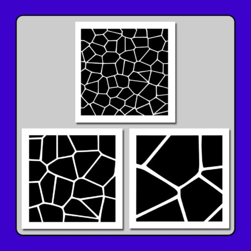 Set of 3 Stained Glass Texture//Pattern STENCILS 6 X 6 each Window//Church