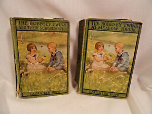 Two-Bobbsey-Twins-Books-Their-Schoolmates-And-At-Meadow-Brook