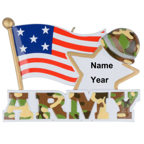 MAXORA US Army Christmas Ornament Armed Forces Military Keepsake Ornament