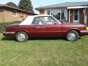 1986 DODGE 600 CONVERTIBLE FOR SALE