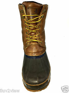 421567c3804 Image is loading Brooks-Brothers-Hunting-Duck-Boots-Waterproof-Leather- Rubber-