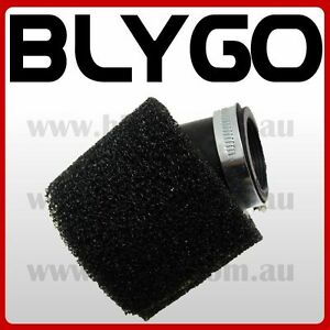 BLACK-37-38mm-Bent-Angled-Foam-Air-Filter-Pod-110cc-PIT-Quad-Dirt-Bike-ATV-Buggy