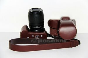 Genuine-real-COW-leather-case-bag-for-Nikon-D3200-D3100-D3000-CAMERA-strap