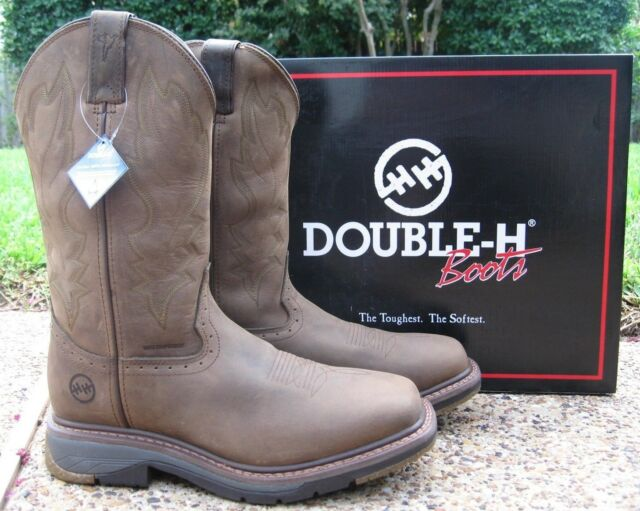 648663e5820 NEW Men's Double-H Field Flex Wide Square Toe Waterproof Roper Work Boots  DH5141